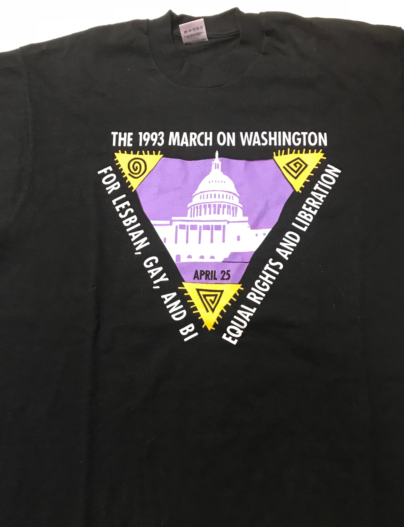 The 1993 March on Washington for Lesbian, Gay and Bi Equal Rights and  Liberation / April 25 [original t-shirt]