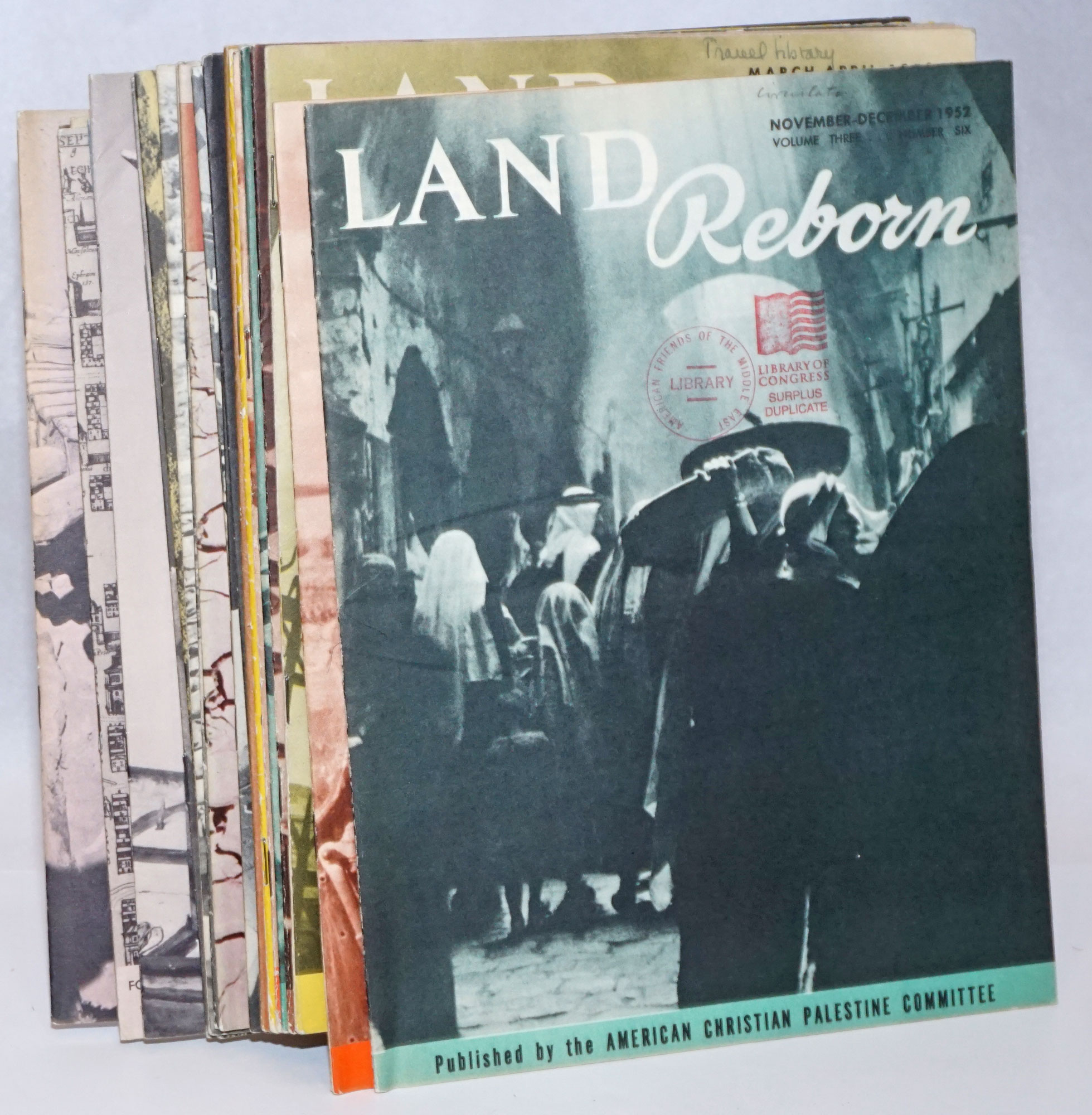 Land Reborn 39 issues by American Christian Palestine Committee on Bolerium  Books