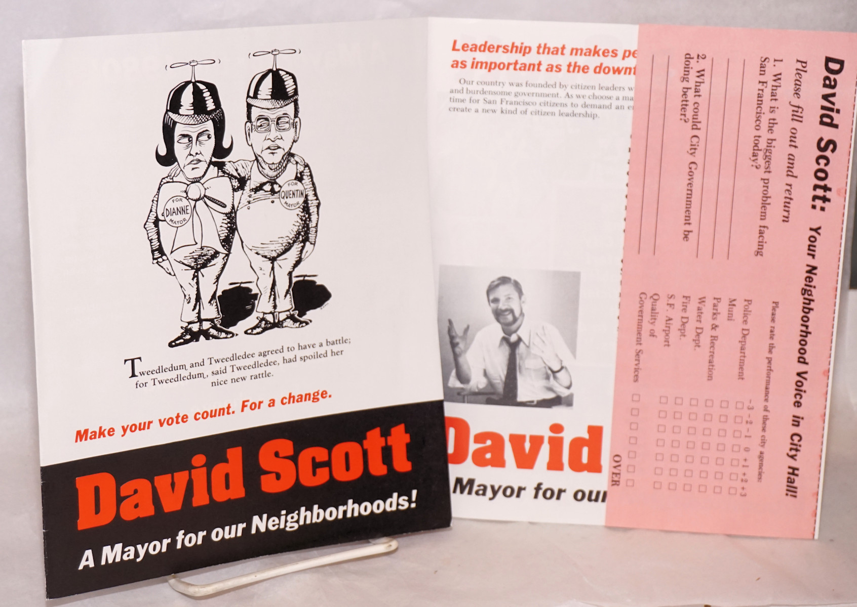 david scott a mayor for our neighborhoods handbill brochure david