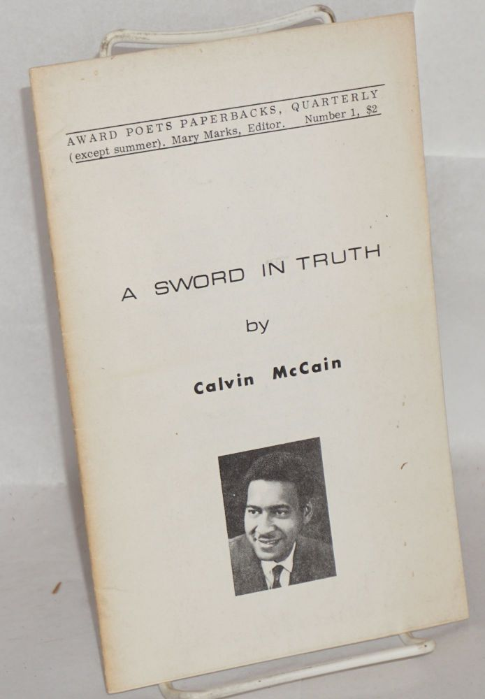 A sword in truth. W. Calvin McCain.