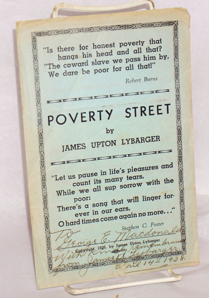 Poverty Street. James Upton Lybarger.