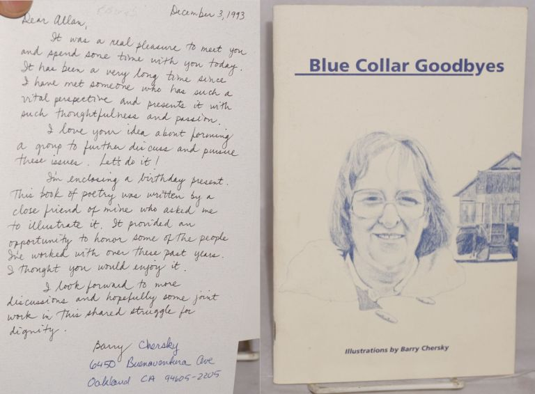 Blue collar goodbyes. Illustrations by Barry Chersky. Sue Doro.