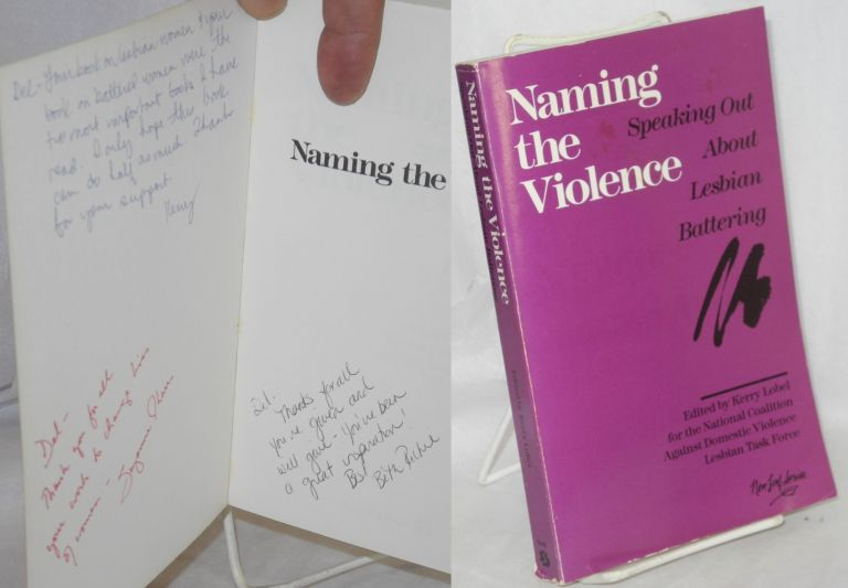 Naming the violence; speaking out about lesbian battering. Kerry Lobel.