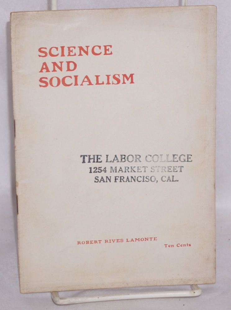 Science and socialism. Robert Rives La Monte.