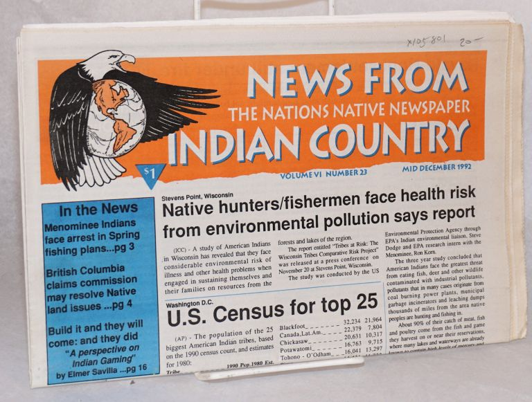 News from Indian Country;; the nations native newspaper; volume VI number 23 Mid December 1992