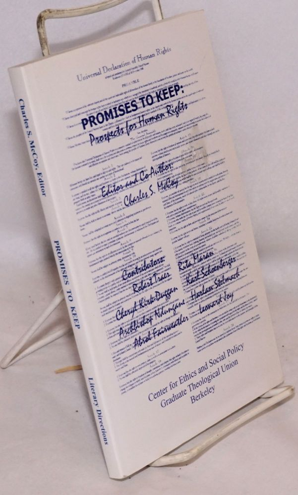 Promises to keep: prospects for human rights. Charles S. McCoy, , and co-author.