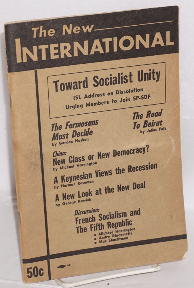 The new international, a Marxist review. Vol. 24, nos. 2-3, Spring - Summer 1958. Whole no. 179. Max Shachtman, ed.