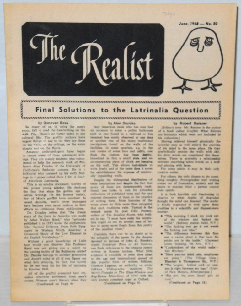 The realist [no.80]; Final solutions to the latrinalia question. Paul Krassner.