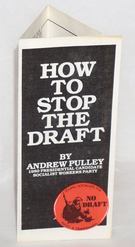How to stop the draft. Andrew Pulley.