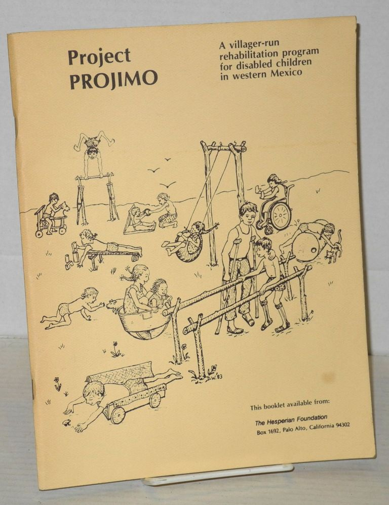 Project Projimo; a villager-run rehabilitation program for disabled children in western Mexico