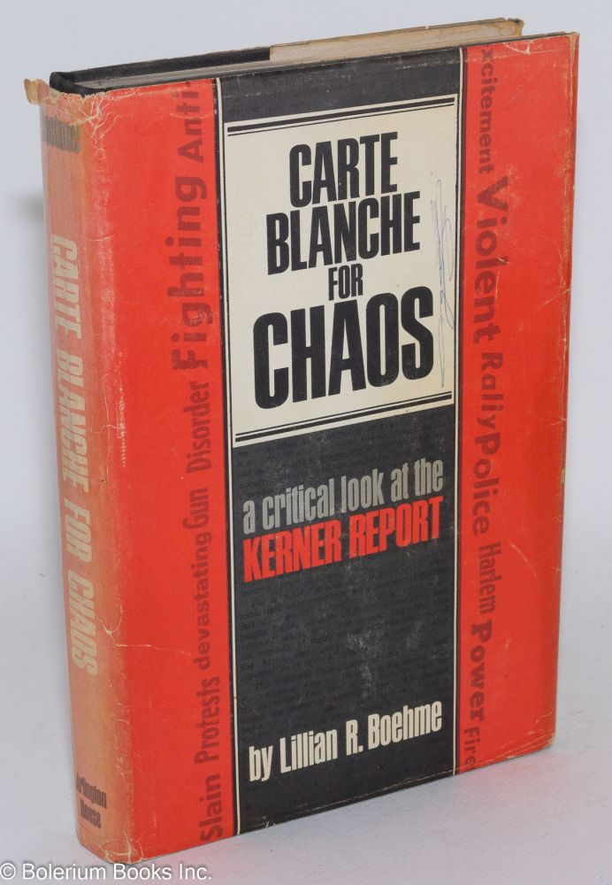 Carte blanche for chaos. Lillian R. Boehme