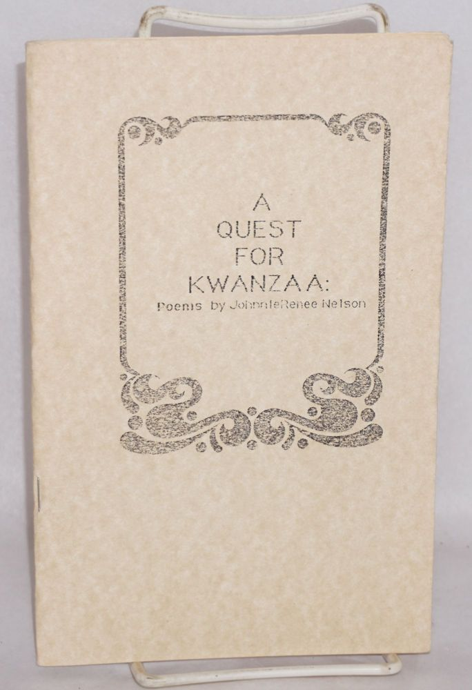A quest for Kwanzaa: poems. Johnnie Renee Nelson.