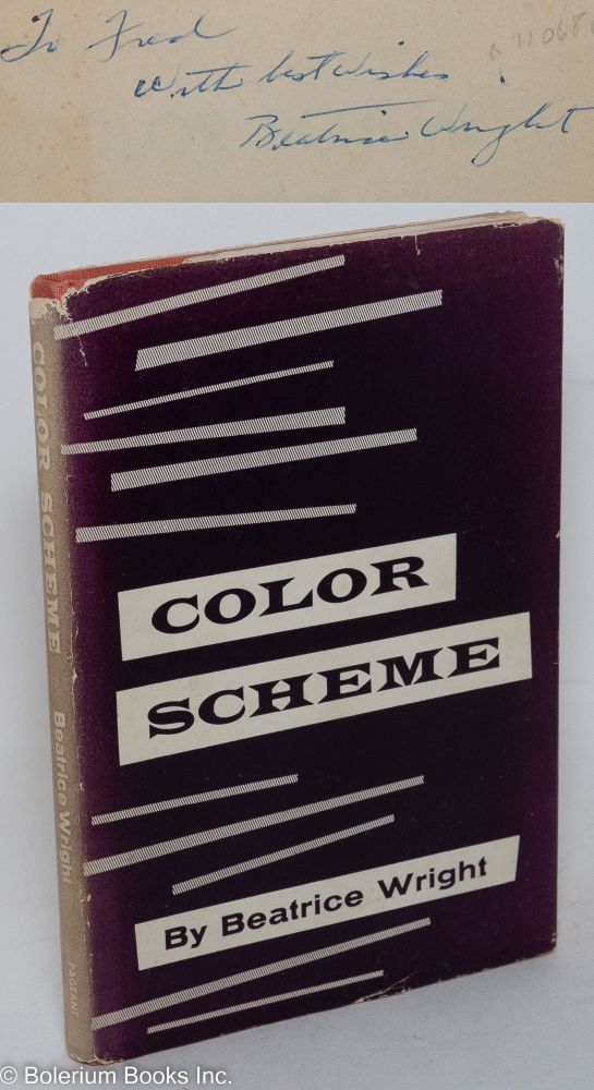 Color scheme; selected poems. Beatrice Wright.