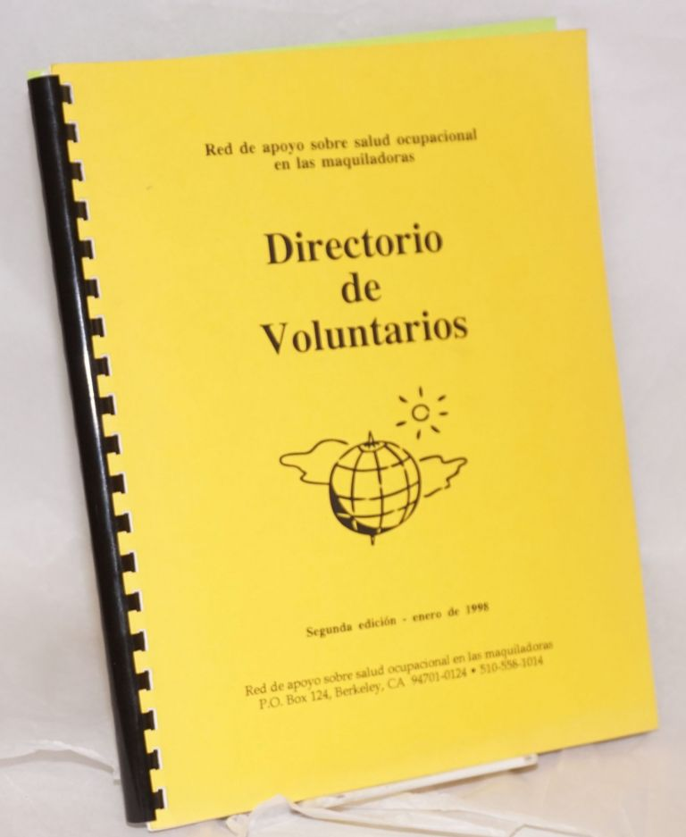 Directory of volunteers. Maquiladora Health, Safety Support Network.