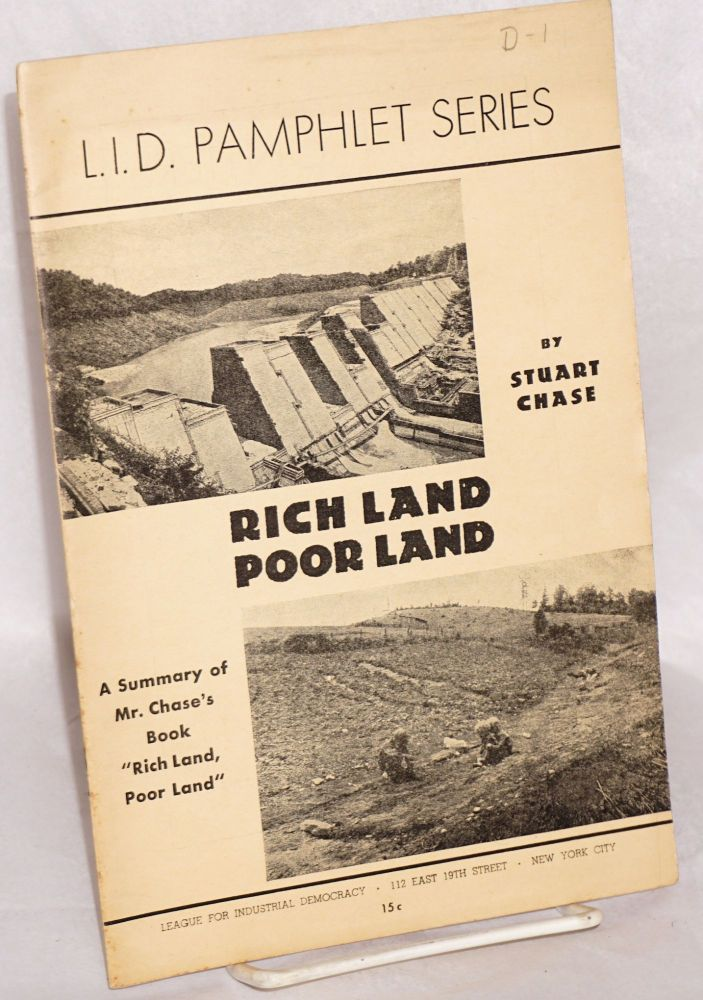 "Rich land, poor land. A summary prepared by Marian Tyler from Mr. Chase's book ""Rich land, poor land."" Chase Stuart."