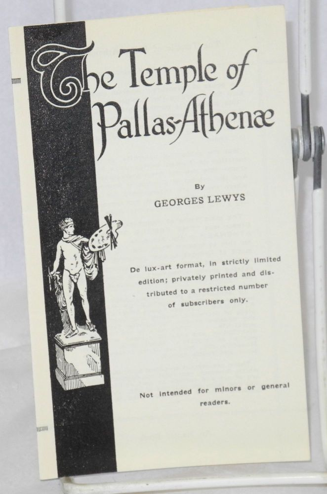 The temple of Pallas-Athena publicity brochure. Georges Lewys, Gladys Adelina Lewis.
