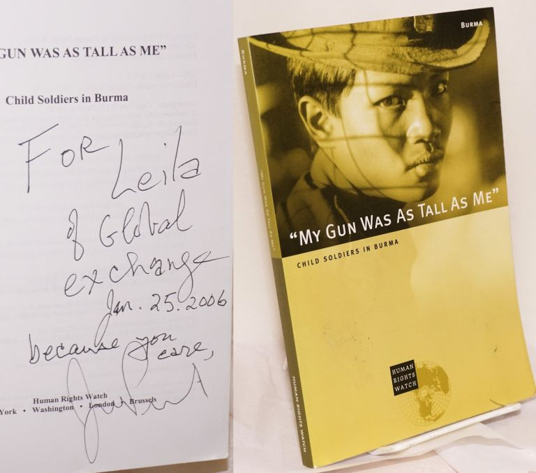 My gun was as tall as me; child soldiers in Burma