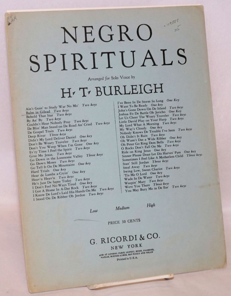 Balm in Gilead; arranged for solo voice. Harry Thacker Burleigh, arranger.