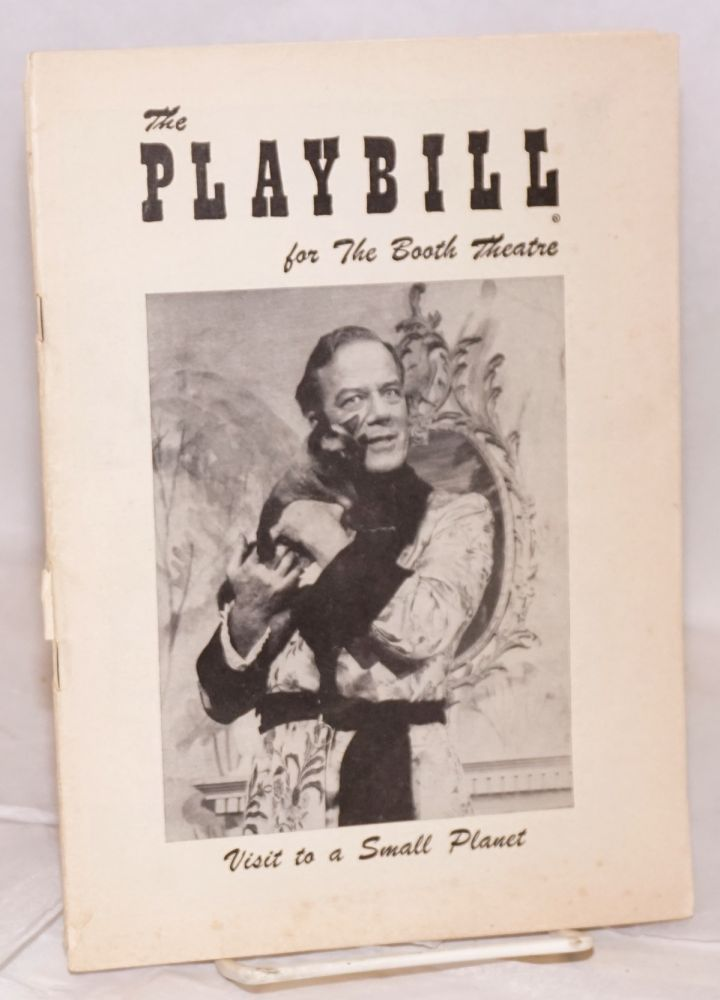 Visit to a Small Planet starring Cyril Ritchard: The Playbill for the Booth Theatre; week beginning Monday, May 20, 1957. Gore Vidal.