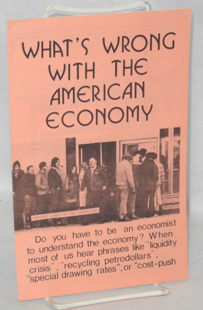 What's wrong with the American economy. Barbara Ehrenreich, John Ehrenreich.