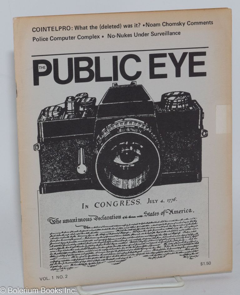 The public eye, vol. 1 no. 2* April, 1978. Harvey Kahn.