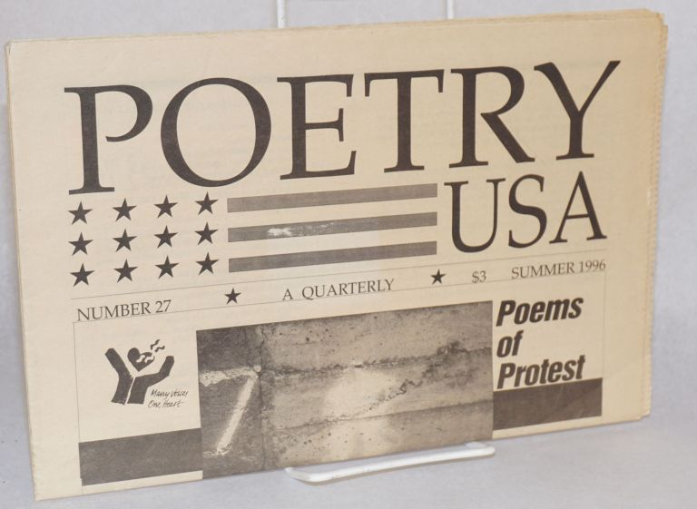 Poetry USA;; a quarterly; Summer 1996 issue no. 27, poems of protest, Jack Hirschman, guest editor