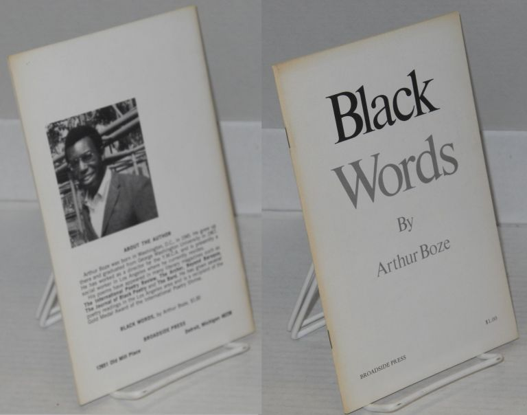 Black words. Arthur Boze.
