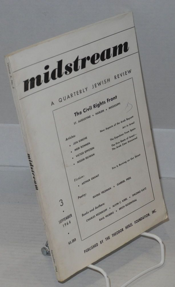 The civil rights front; St. Augustine, Harlem, Mississippi, in Midstream, a quarterly Jewish review, September 1964, volume X, no. 3