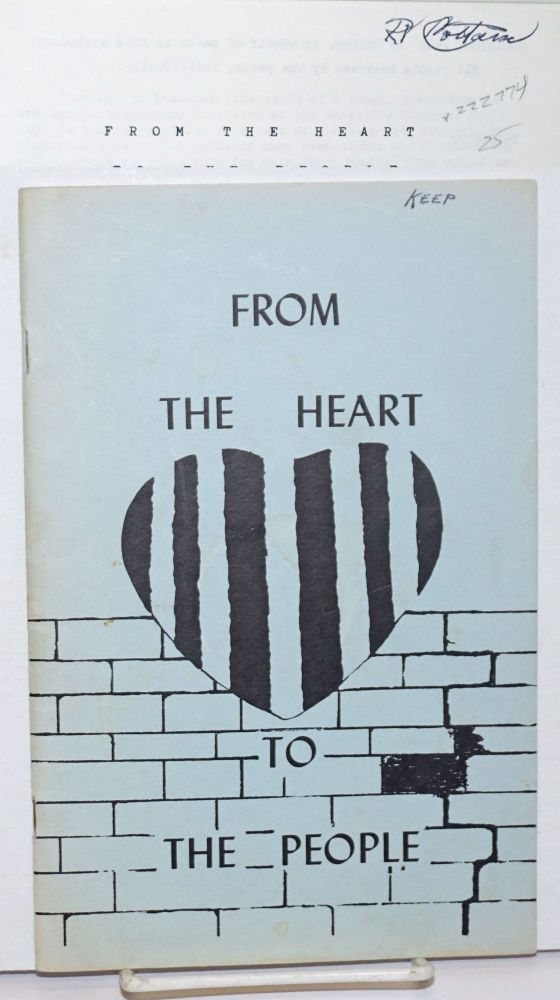 From the heart to the people; an anthology of Vacaville prison poetry. RV Cottam, ed.