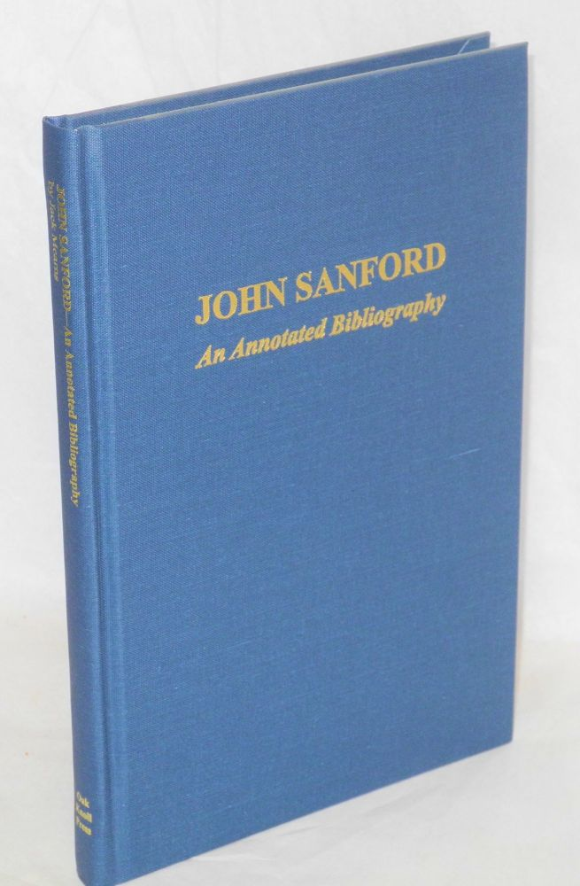 John Sanford, an annotated bibliography. Jack Mearns.