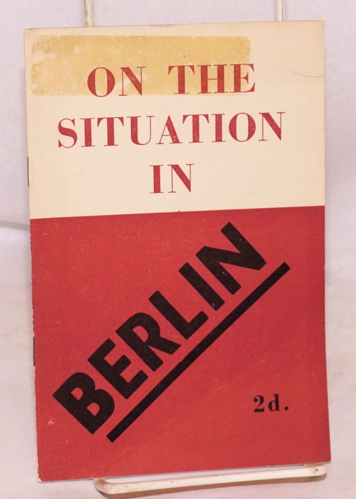 On the situation in Berlin