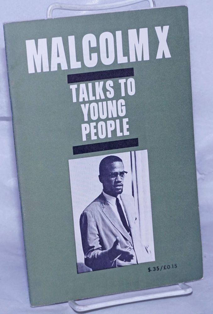 Malcolm X talks to young people. Malcolm X.