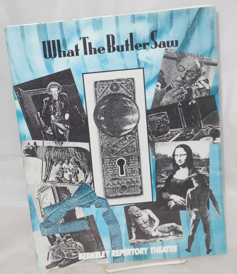 What the Butler Saw [playbill]. Joe Orton, Richard Hellesen.