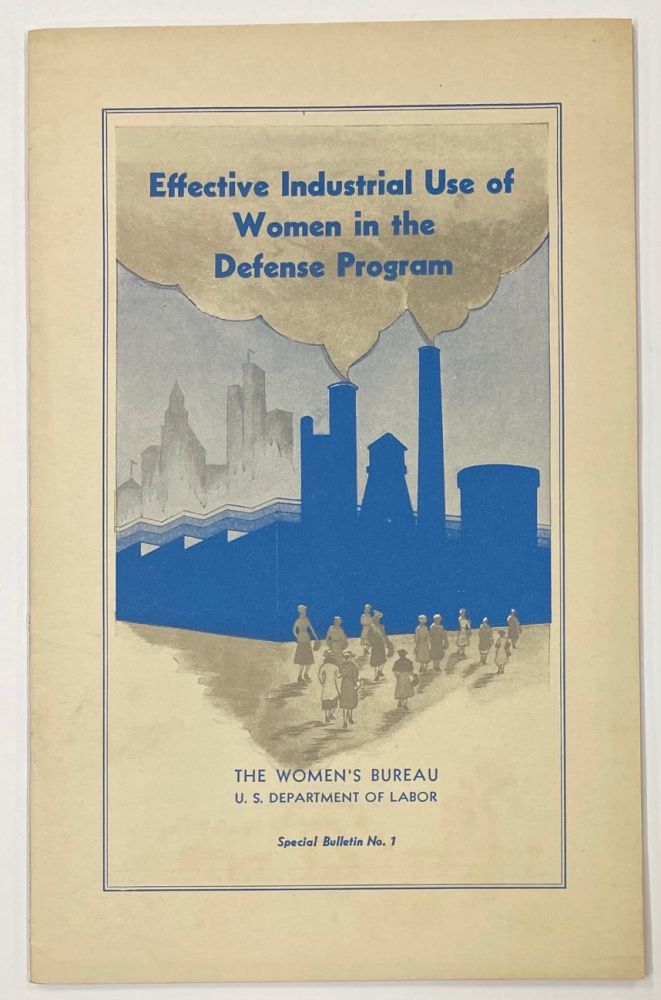 Effective industrial use of women in the defense program
