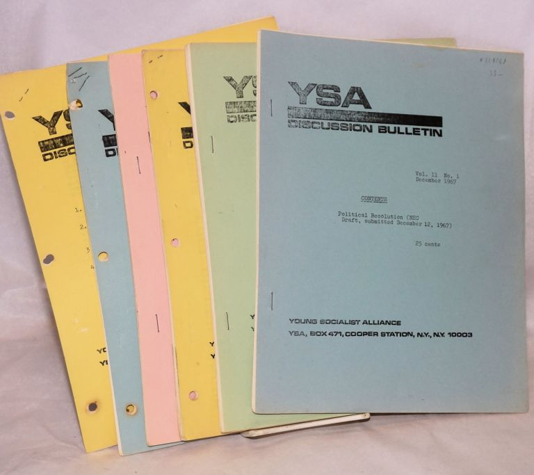 YSA Discussion Bulletin, Volume 11, No. 1-7. Young Socialist Alliance.