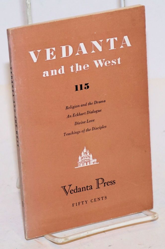 Religion and the Drama. [In Vedanta and the West No. 115, Sept-Oct. 1955]. John Van Druten.