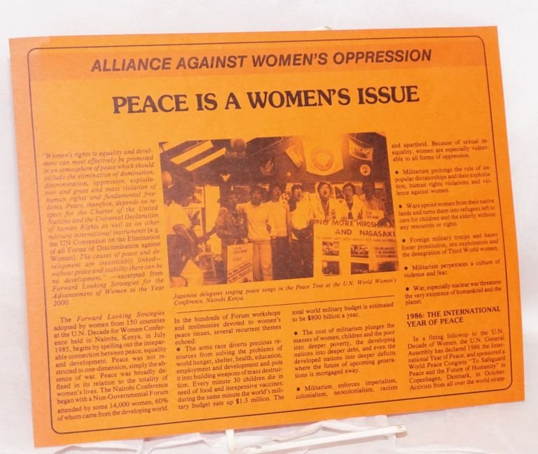 Peace is a women's issue