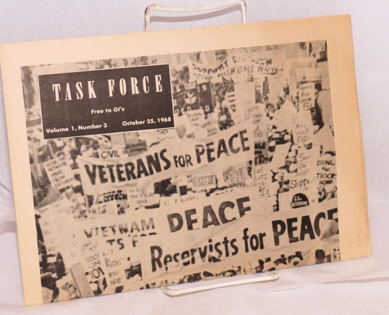 October 12, San Francisco. Task Force Vol. 1, No. 3. October 25, 1968. Ken Shillman, , eds.