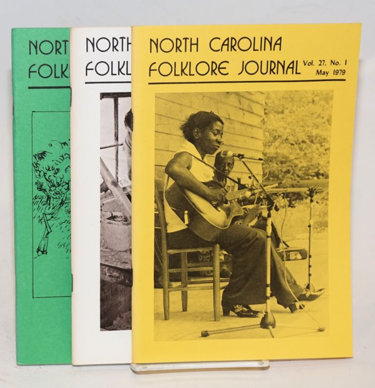 North Carolina Folklore Journal; vol. 27, numbers 1, 2 and 3 May, November and December1979