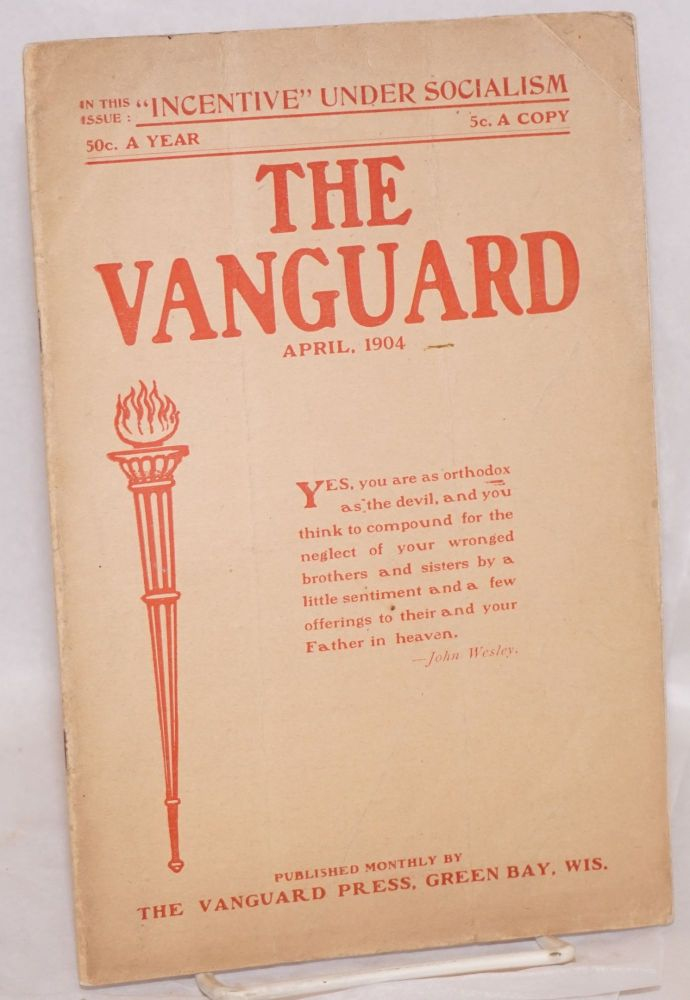 The Vanguard; a magazine of modern thought and social progress