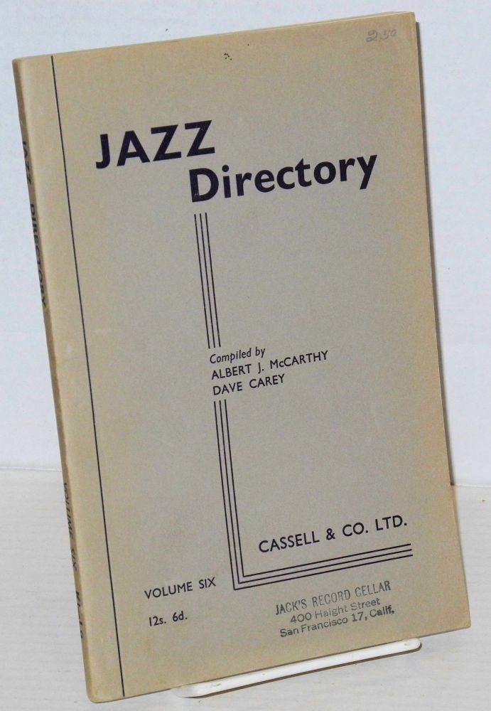 The directory; of recorded jazz and swing music (including gospel and blues records); volume six (Kirkeby - Longshaw). Dave Carey, comps Albert J. McCarthy.