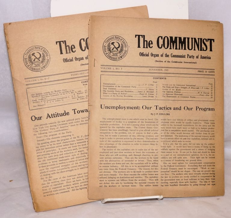 The Communist, official organ of the Communist Party of America (section of the Communist International). Vol. 1, no. 5, and 6-7 (Nov. 1921 and Feb.-March 1922). Communist Party of America.