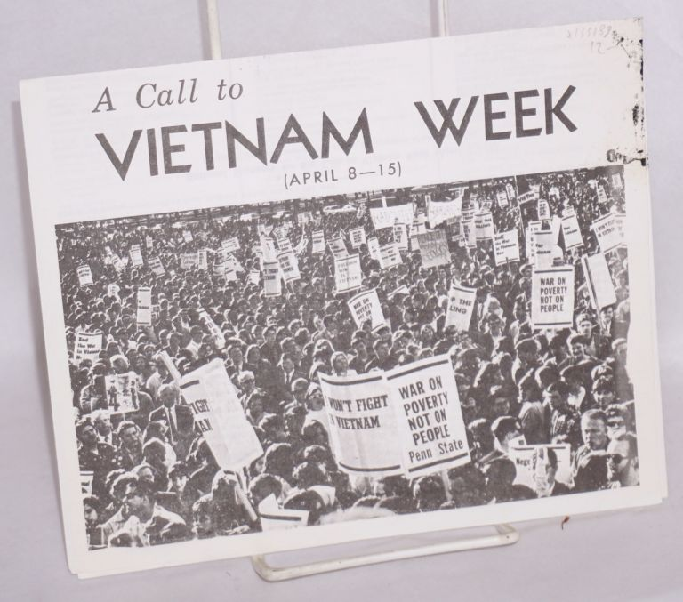 A call to Vietnam Week (April 8 - 15). Student Mobilization Committee.