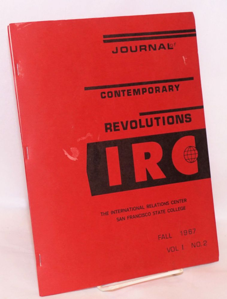 The journal of contemporary revolution; vol. I, no 2, Fall 1967. John Gerassi, Jeffrey Freed, Denis Norrington.