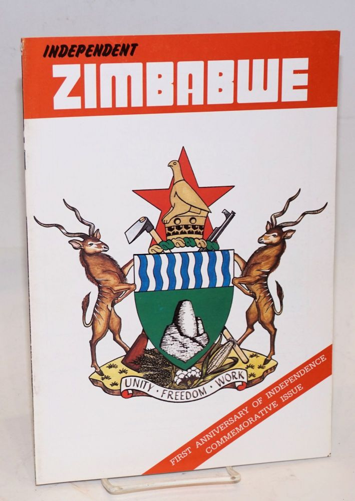 Independent Zimbabwe; first anniversary of Inedependence commeorative Issue