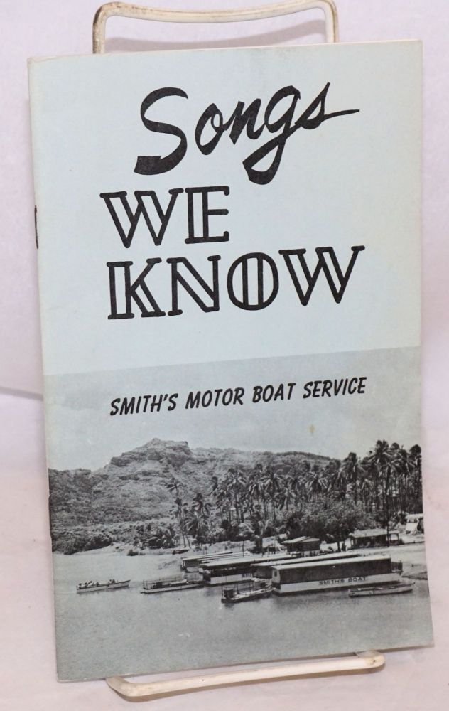 Songs we know. Smith's Motor Boat Service.