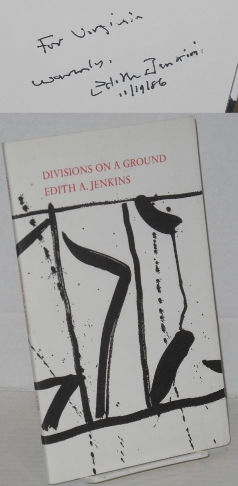 Divisions on a ground. Edith Arnstein Jenkins.
