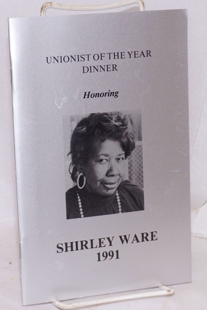 Unionist of the Year Dinner honoring Shirley Ware