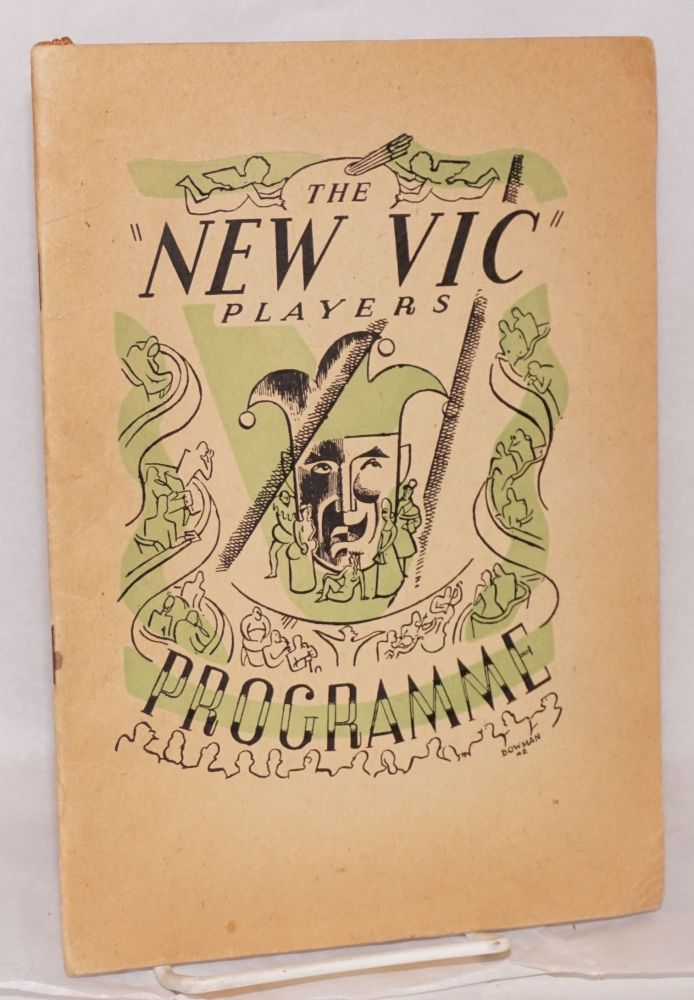 The New Vic Players present Berkeley Square by J. L. Balderston; playbill/programme. J. L. Balderston, The New Vic Players.