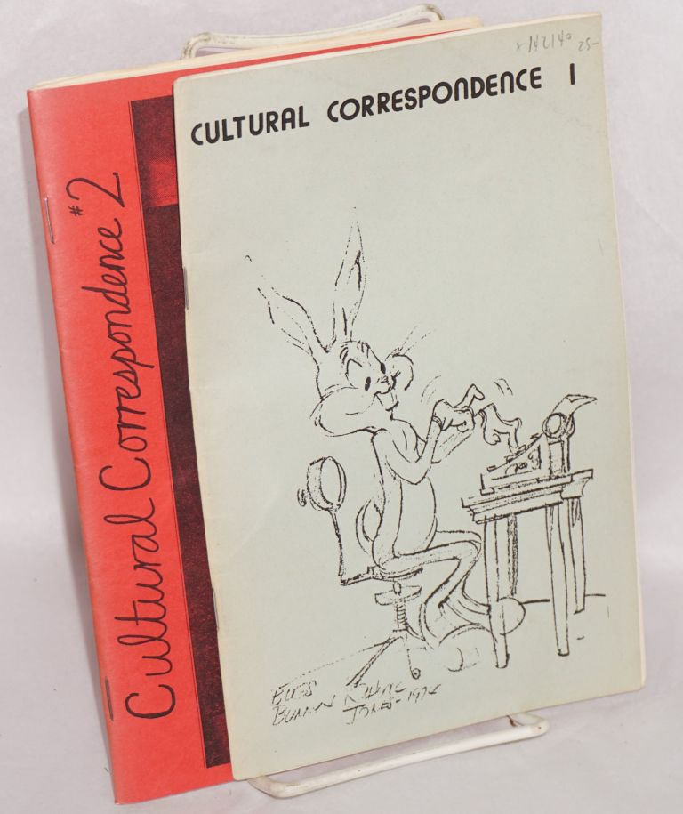 Cultural correspondence, no. 1 and 2. August, 1975 and August, 1976. Paul Buhle, eds Dave Wagner.